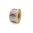 Allergen Soybeans Labels 25mm Permanent