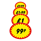 Starburst Price Labels 37x28mm