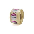 Allergen Sulphites Labels 25mm Permanent