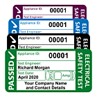Personalised 4th Edition PAT Test Labels 50x25mm