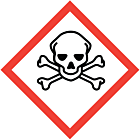 GHS & CLP Toxic Labels 100x100mm