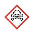 GHS & CLP Toxic Labels 50x50mm
