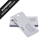 White Cloakroom Tags Numbered 001-100