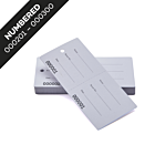 2-Part Concierge Tags Numbered 201-300